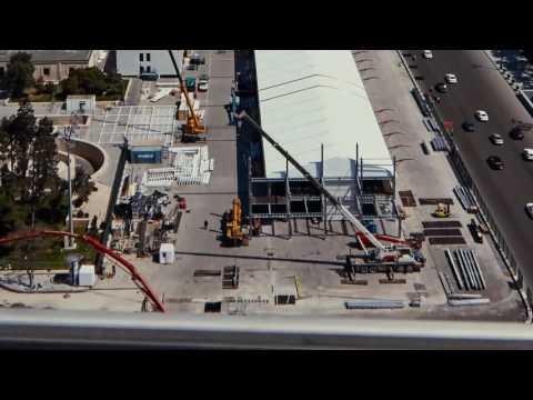 Видео: Процесс строительства паддока трассы в Баку