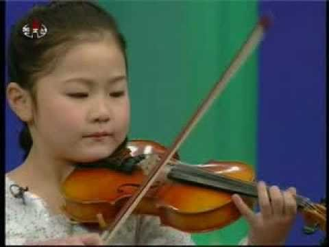 "[Violin] Kim Chi Hyang - ""When Our Mother Brightly Smiles"" {DPRK Music}"