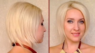 How to fake short hair Faux bob hair tutorial Updo for medium long hair with and without layers