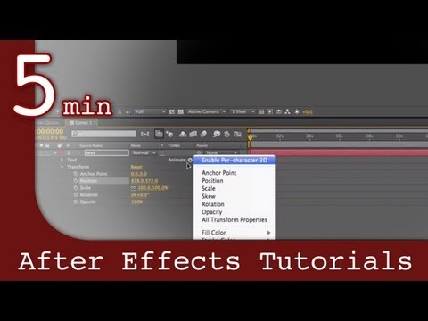 After Effects Tutorial: Working with text and titles in After Effects Lesson
