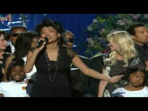 judith hill HEAL THE WORLD,Michael Jackson Memorial