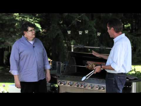 Weber Grills-Grill Marks with Jamie Purviance and David Leite: How to Grill Rotisserie Chicken 