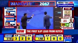 Counting for Crucial Gujarat, Himachal Elections; Bharatiya Janata Party (BJP) Set To Win - TIMESNOWONLINE