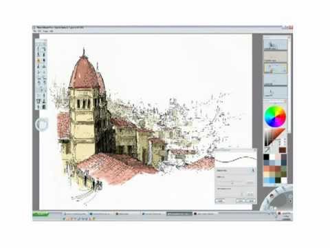 Architectural Sketch on Sketchbook Pro