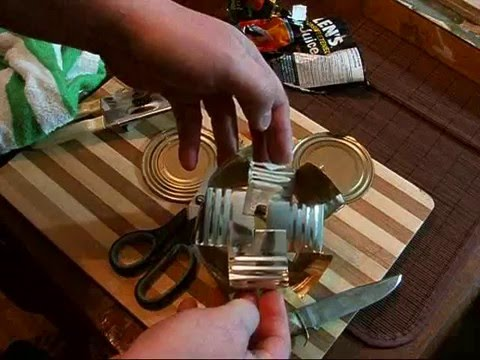 The Tin Can Survival Cook Stove