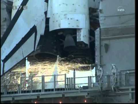 Launch of Space Shuttle Discovery/STS-133 2011/02/24  T-9 minutes to MECO
