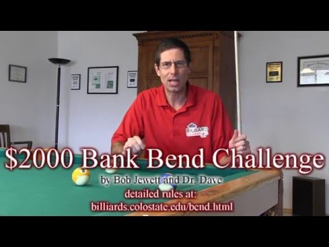 $2000 Bank Bend Challenge - bend a bank short around 1/2 a ball