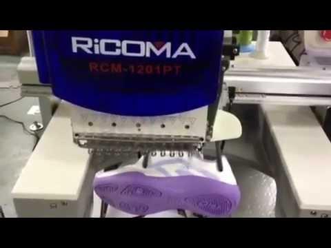 สาธิต  จักรปักคอมพิวเตอร์  จักรปัก เครื่องปักคอมพิวเตอร์ ปักรองเท้า RiCOMA www.SKTthai.com
