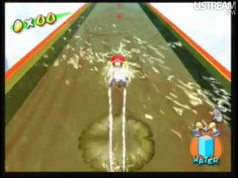 Chuggaaconroy failing at Super Mario Sunshine Lily Pad Level ustream 4 30 10