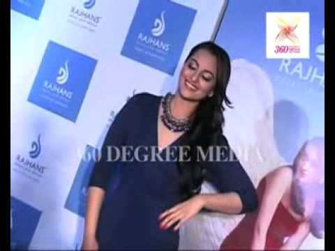Sonakshi Sinha poses for the shutterbugs, looking hot in a dark blue outfit