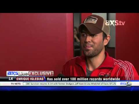 Exclusive interview for AXS Live Enrique Iglesias talks about his single