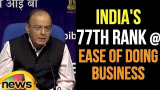 Arun Jaitley says India can improve Further in Ease of Doing Business Ranking | Mango News - MANGONEWS