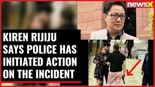 Kiren Rijiju tweets on VVIP brat, says police has initiated action on the incident - NEWSXLIVE