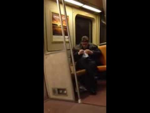 Big Fat Drunk Guy Sings Lil Jon's 'Get Low' On The Train, It's Ace
