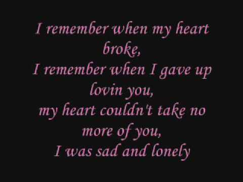 KeyshiaCole I Remember w lyrics