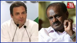 Kumaraswamy To Meet Sonia Gandhi And Rahul Gandhi In Delhi Today | Khabrein Superfast - AAJTAKTV