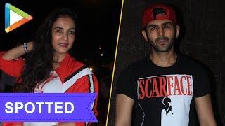 SPOTTED:CUTE Sonal Chauhan & Kartik Aryan @Juhu Gym - HUNGAMA