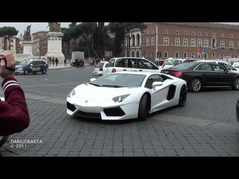 8x Lamborghini Aventador LP700-4 (Official Debut in Rome)