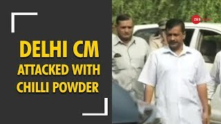 Man detained after throwing chilli power at Arvind Kejriwal - ZEENEWS