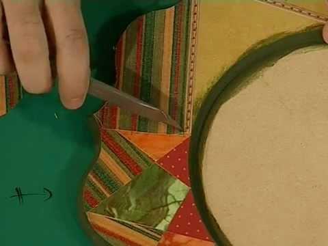Como hacer el marco de un espejo con contracolado