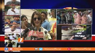 Manchu Lakshmi Casts Her Vote | Telangana Assembly Polling 2018 | iNews - INEWS