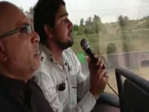 farhan ali waris noha in the bus on the way to KARBALA in IRAQ