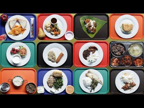 Szkolne lunche w różnych częściach świata