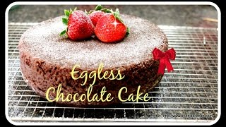 Eggless Chocolate Cake - Without oven| Cooker Cake Recipe - SRUTHISKITCHEN