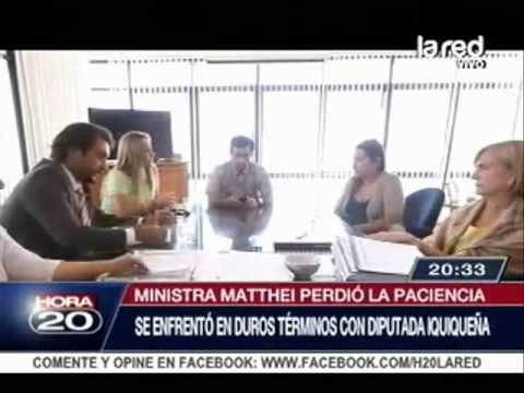 Fuerte cara a cara de ministra con diputada