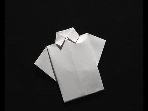origami pliage papier la chemise