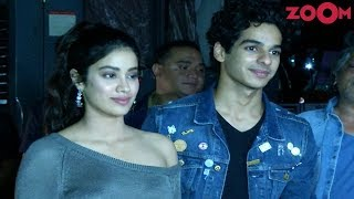 Janhvi Kapoor And Ishaan Khatter At 'Dhadak' Screening In Juhu - ZOOMDEKHO