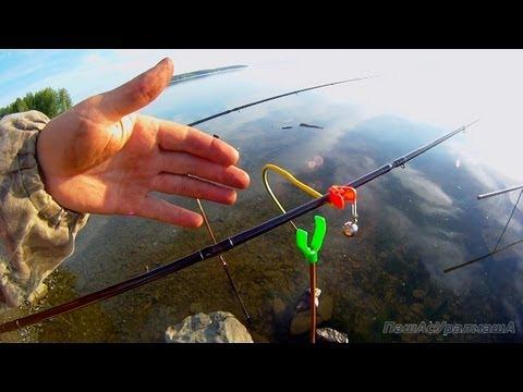 рыбалка на фидер и поплавочную удочку видео