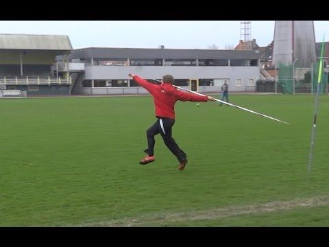 First javelin training for season 2015 Timothy Herman