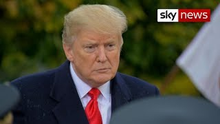 Donald Trump pays respect to 'brave Americans' - SKYNEWS