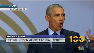 Former US President Barack Obama delivers 16th Nelson Mandela annual lecture - ABNDIGITAL