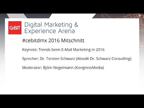 "#cebitdmx: Keynote ""Trends beim E-Mail Marketing in 2016"""