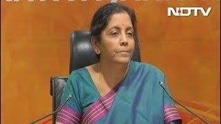 """Rhetoric Of Loser"": Nirmala Sitharaman Counters Rahul Gandhi Speech - NDTV"