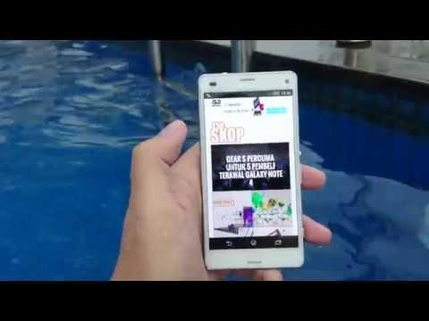 Ujian dalam air untuk Sony Xperia Z3 Compact