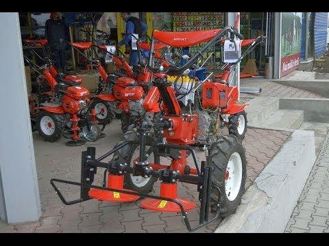 Motocultor diesel Rotakt ROG135 cu dispozitiv de cosire (motocositoare)