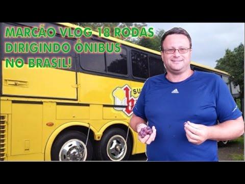 Marcos Ténéré VLOG 18 Rodas dirigindo ônibus no brasil Banda Choppão (vídeo 2 de 4)