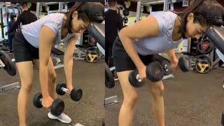 Viral Video: Rashmika Mandanna GYM Workout Video | Rashmika Mandanna Latest GYM Workout Video - TFPC