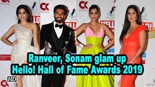 Ranveer Singh, Sonam K Ahuja glam up Hello! Hall of Fame Awards 2019 - BOLLYWOODCOUNTRY