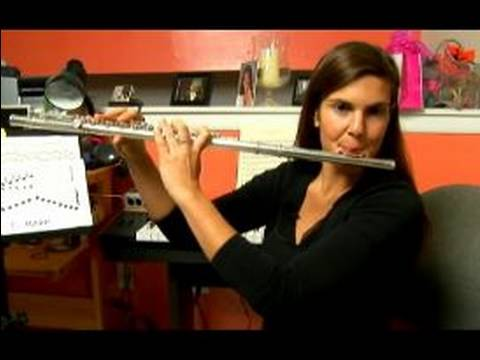 How to Play Flute Scales in C Major : How to Play Octaves on the Flute in C Major