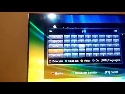 Configurando CS WiFi Azamerica S1005 HD Sky Full Claro HD Vivo Oi Tv Combate PFC Telecine HBO