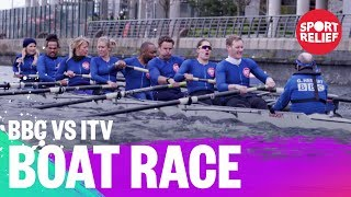 BBC vs ITV presenters boat race -  Sport Relief 2018 - BBC - BBC