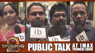 Baahubali 2 public talk at IMAX premiere show - idlebrain.com - IDLEBRAINLIVE