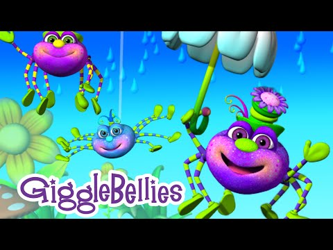 The GiggleBellies - Itsy Bitsy, Incy Wincy, & Teeny Weeny Spider - with Lyrics
