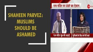 Shaheen Parvez statement on Ram Mandir creates controversy - ZEENEWS