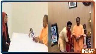 Yogi Adityanath ने दिया गोरखपुर से बीजेपी उम्मीदवार Ravi kishan को जीत का आशीर्वाद - INDIATV