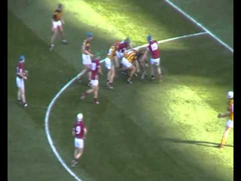 All-Ireland Hurling Final Replay 2012 - Joe Canning shot hits the post